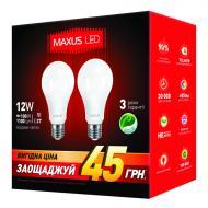 ������������ ����� Maxus A65 12W 4100K 220V E27 AP (2 ��.) (2-LED-336-01)
