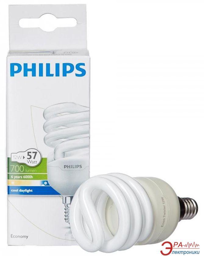 Энергосберегающая лампа Philips E14 12W 220-240V CDL 1PF/6 Econ Twister (929689381604)