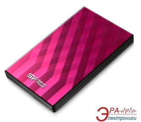 Внешний винчестер Silicon Power Diamond D10 Pink (SP750GBPHDD10S3P)