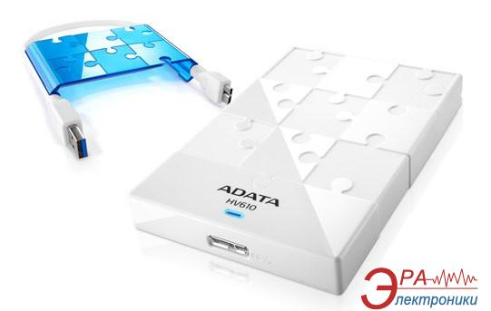 Внешний винчестер A-Data HV610 White/ Blue (AHV610-500GU3-CWHBL)