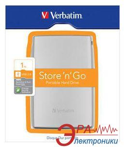 Внешний винчестер Verbatim Store n Go Silver (53016)