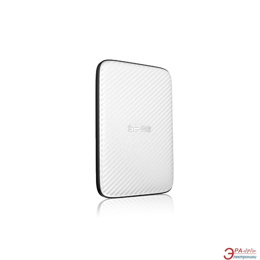 Внешний винчестер 500GB Silicon Power Diamond D20 White (SP500GBPHDD20S3W)