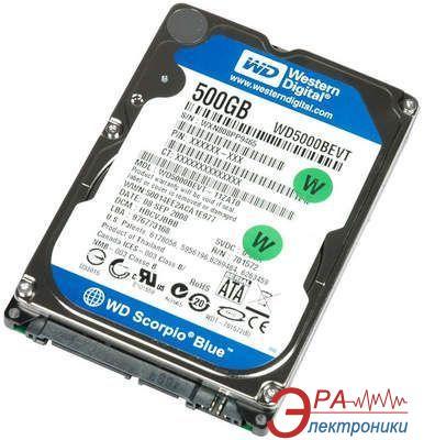 Жесткий диск 500GB WD WD5000BEVT