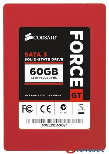 SSD накопитель 60 Гб Corsair GT Force 3 Series™ (CSSD-F60GBGT-BK)