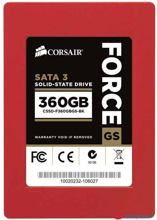 SSD накопитель 360 Гб Corsair Force GS (CSSD-F360GBGS-BK)