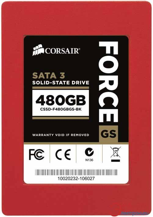 SSD накопитель 480 Гб Crucial Force GS (CSSD-F480GBGS-BK)