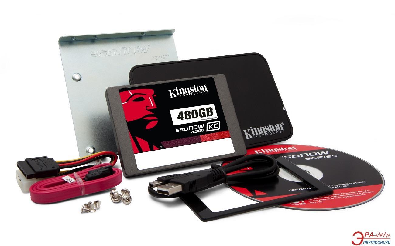 SSD накопитель 480 Гб Kingston SSDNow KC300  Bundle (SKC300S3B7A/480G)