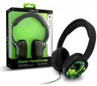 Наушники Canyon CNL-HP03X Black/Green