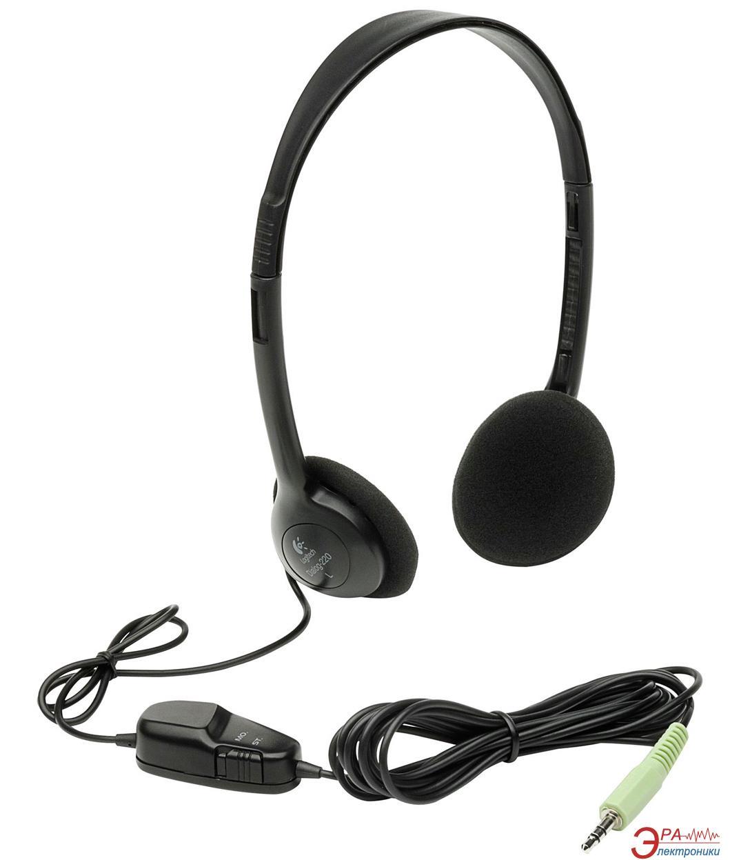 Наушники Logitech Dialog 220 Black (980177-0000)