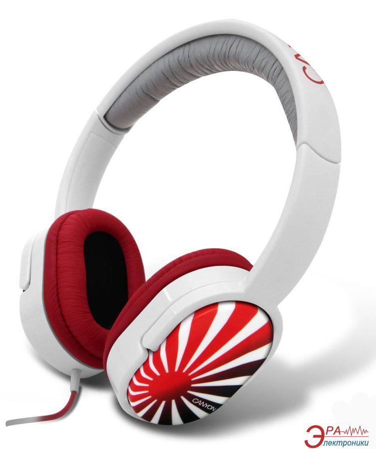 Наушники Canyon CNL-HP03J White/Red