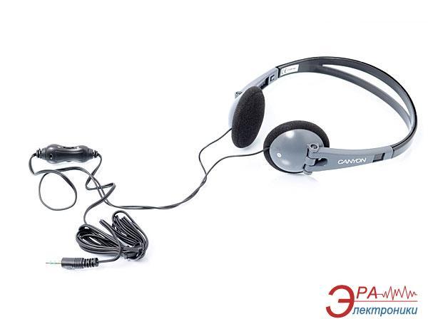 Наушники Canyon CNF-HP02 Black/Grey