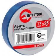 Изолента Intertool 0.15mm x 17mm x 25m Blue (IT-0025)