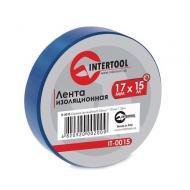 Изолента Intertool 0.15mm x 17mm x 15m Blue (IT-0015)