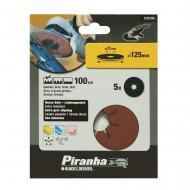 Круг наждачный самоклеющийся Piranha P100, 125mm, 5шт. (X32195)