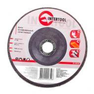 Диск шлифовальный лепестковый Intertool 180x22mm, K150 (BT-0235)