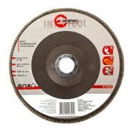 Диск шлифовальный лепестковый Intertool 180x22mm, K120 (BT-0232)