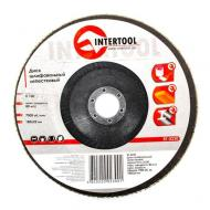 Диск шлифовальный лепестковый Intertool 180x22mm, K100 (BT-0230)