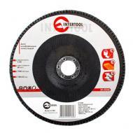 Диск шлифовальный лепестковый Intertool 180x22mm, K80 (BT-0228)
