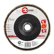 Диск шлифовальный лепестковый Intertool 180x22mm, K36 (BT-0223)