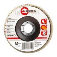 Диск шлифовальный лепестковый Intertool 125x22mm, K150 (BT-0215)