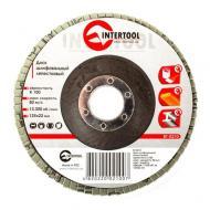 Диск шлифовальный лепестковый Intertool 125x22mm, K100 (BT-0210)