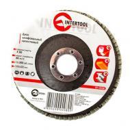 Диск шлифовальный лепестковый Intertool 125x22mm, K80 (BT-0208)