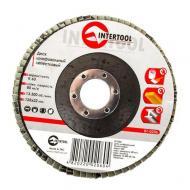 Диск шлифовальный лепестковый Intertool 125x22mm, K60 (BT-0206)
