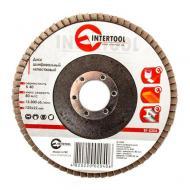 Диск шлифовальный лепестковый Intertool 125x22mm, K40 (BT-0204)