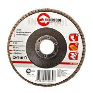Диск шлифовальный лепестковый Intertool 125x22mm, K36 (BT-0203)