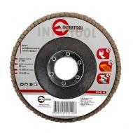 Диск шлифовальный лепестковый Intertool 115x22mm, K150 (BT-0115)