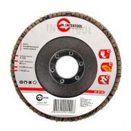 Диск шлифовальный лепестковый Intertool 115x22mm, K100 (BT-0110)