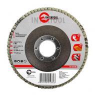 Диск шлифовальный лепестковый Intertool 115x22mm, K80 (BT-0108)