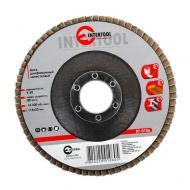 Диск шлифовальный лепестковый Intertool 115x22mm, K60 (BT-0106)