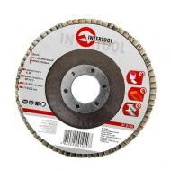 Диск шлифовальный лепестковый Intertool 115x22mm, K40 (BT-0104)