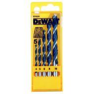 Набор сверл по дереву Dewalt 4,5,6,8,10mm (DT4535)