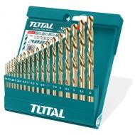 Набор сверл по металлу Total 19 шт, d=1-10 mm (TACSD0195)