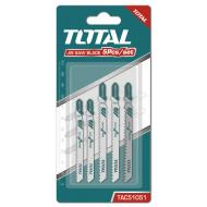 Набор пилок для электролобзика Total 5 шт (TAC51051)