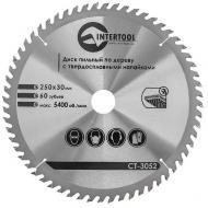Диск циркулярный Intertool 250x30x1.7мм, 60 зубьев (CT-3052)