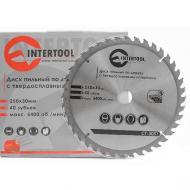 Диск циркулярный Intertool 250x30x1.7мм, 40 зубьев (CT-3051)