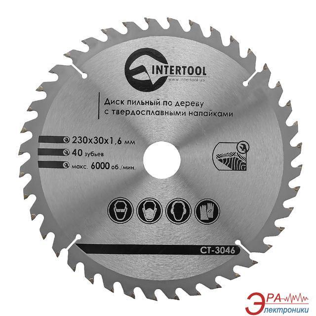 Диск циркулярный Intertool 230x30x1.6мм, 40 зубьев (CT-3046)
