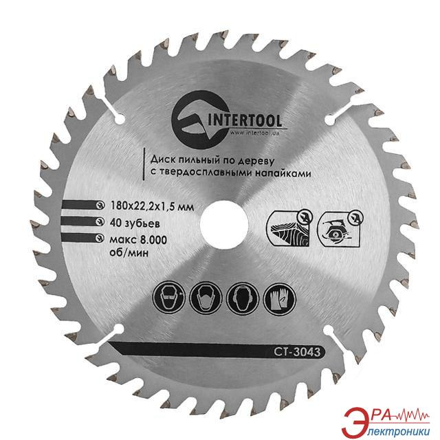 Диск циркулярный Intertool 180x22x1.5мм, 40 зубьев (CT-3043)