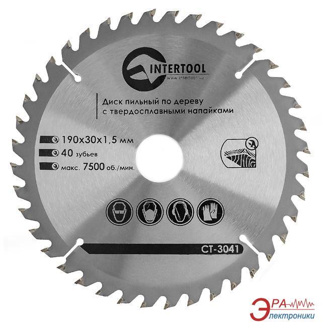 Диск циркулярный Intertool 190x30x1.5мм, 40 зубьев (CT-3041)