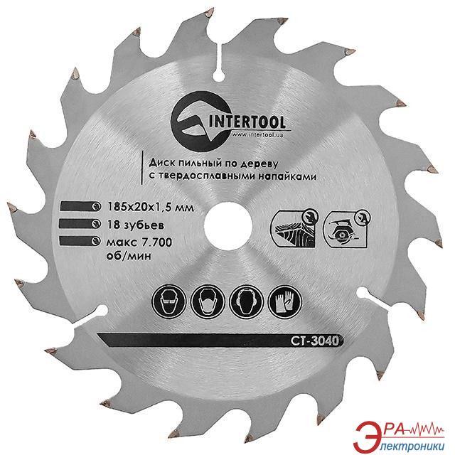 Диск циркулярный Intertool 185x20x1.5мм, 18 зубьев (CT-3040)