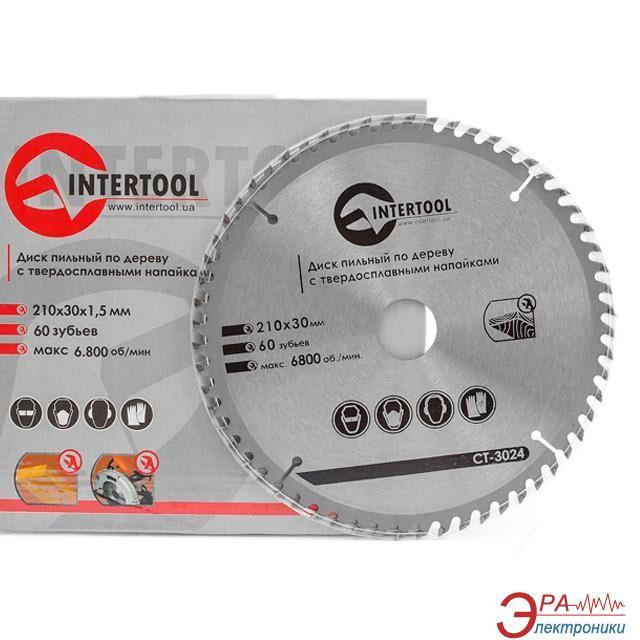 Диск циркулярный Intertool 210x30x1.5мм, 60 зубьев (CT-3024)