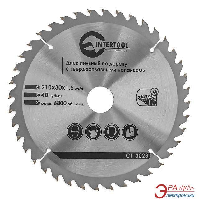 Диск циркулярный Intertool 210x30x1.5мм, 40 зубьев (CT-3023)