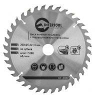 Диск циркулярный Intertool 200x25.4x1.5мм, 36 зубьев (CT-3020)