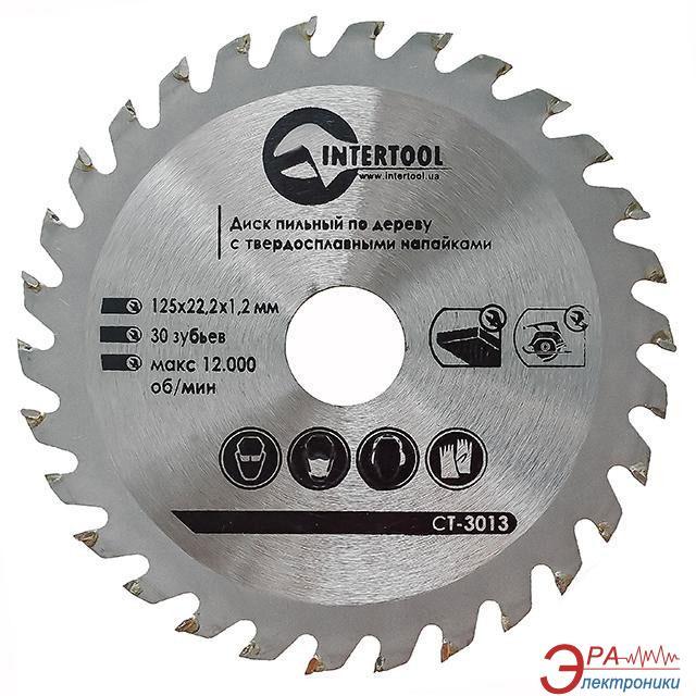 Диск циркулярный Intertool 125x22x1.4мм, 30 зубьев (CT-3013)