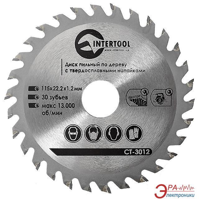 Диск циркулярный Intertool 115x22x1.4мм, 30 зубьев (CT-3012)