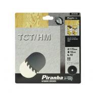 Диск циркулярный Piranha 170x16мм, 40 зубьев (X13125)