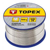 Припой TOPEX 1.5 mm, 100g (44E524)